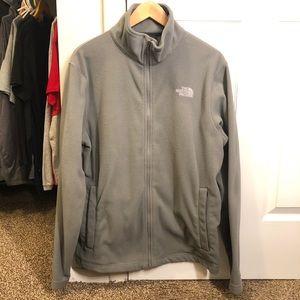 Men's The North Face Grey Fleece Jacket Size M